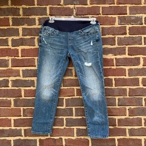 Gap Maternity size 10 distressed ankle jeans